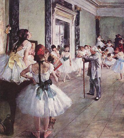Ballet class degas