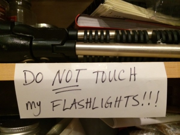 flashlight sign