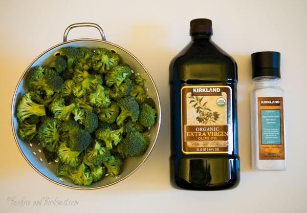 Roasted Broccoli ingredients-Beehiveandbirdsnest.com